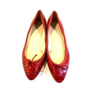 Zara red pointed flats 9